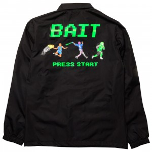 BAIT Men 8 Bit Press Start Coaches Jacket (black)