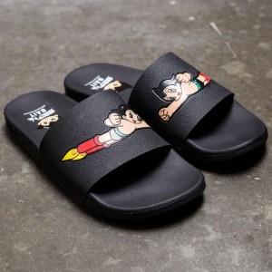 BAIT x Astro Boy Men Launch Slides (black)