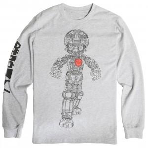 BAIT x Astro Boy Men Mechanical Long Sleeve Tee (gray)
