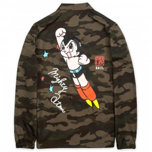 BAIT x Astro Boy Men Mighty Atom Coaches Jacket (camo)
