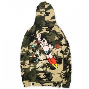 BAIT x Astro Boy Men Mighty Atom Hoody (camo / army)