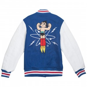 BAIT x Astroboy Men Launch Varsity Jacket (blue / white)
