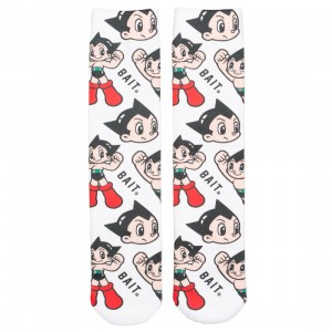 BAIT x Astro Boy Men Astro Boy Pattern Socks (white) 1S
