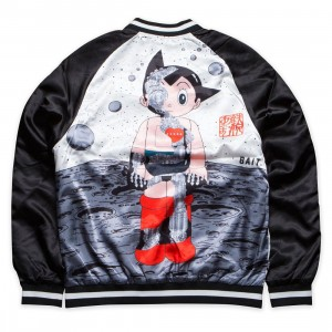 BAIT x Astro Boy Men Moon Souvenir Jacket (black / white)