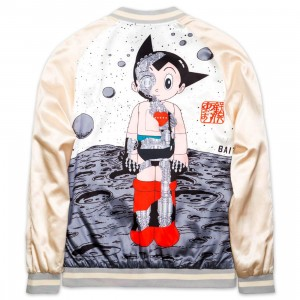 BAIT x Astro Boy Men Moon Souvenir Jacket (gold / white)
