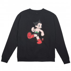 BAIT x Astro Boy Men Vintage Crewneck Sweater (black)