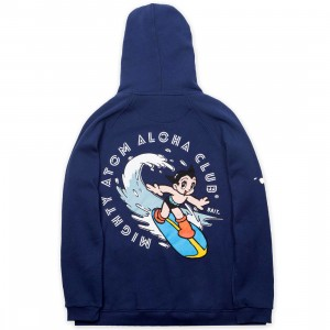 BAIT x Astro Boy Men Aloha Surf Zip Hoody (navy)