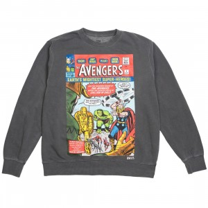 BAIT x Marvel Men Avengers - Earth's Mightiest Heroes Crewneck Sweater (black / pigment dyed)