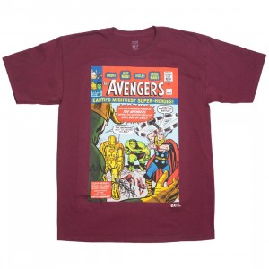 BAIT x Marvel Men Avengers - Earth's Mightiest Heroes Tee (burgundy)
