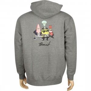 BAIT x SpongeBob Group Pullover Hoody (gunmetal heather)