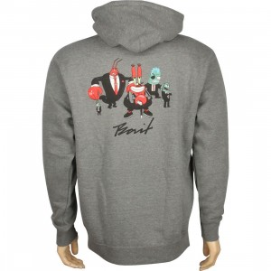 BAIT x SpongeBob Mr Krabs Pullover Hoody (gunmetal heather / white)