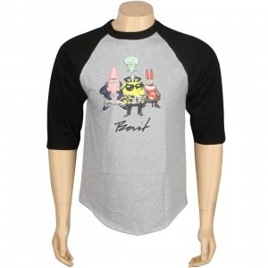 BAIT x SpongeBob Group Raglan Tee (heather / black)