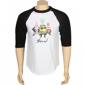 BAIT x SpongeBob Group Raglan Tee (white / black)