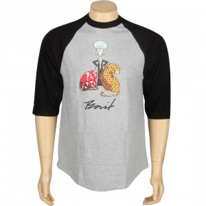 BAIT x SpongeBob Squidward Raglan Tee (heather / black)