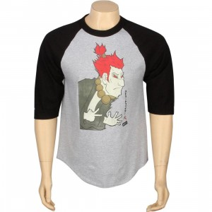 BAIT x Street Fighter Artist Series Akuma Raglan - Kidokyo (heather / black)
