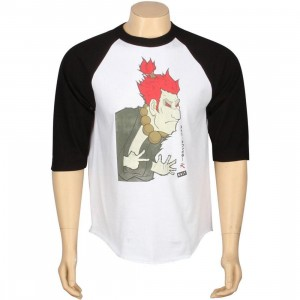BAIT x Street Fighter Artist Series Akuma Raglan - Kidokyo (white / black)