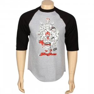 BAIT x Street Fighter Artist Series Originals Raglan - Jerome Lu (heather / black)