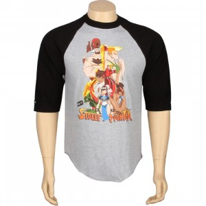 BAIT x Street Fighter Artist Series World Warriors Raglan - Kwestone (heather / black)