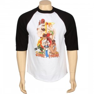 BAIT x Street Fighter Artist Series World Warriors Raglan - Kwestone (white / black)