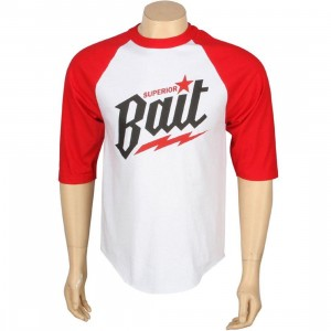 BAIT Superior BAIT Raglan Tee (white / red)