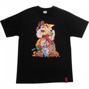 BAIT x Street Fighter Artist Series World Warriors Tee - Kwestone (black)