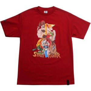 BAIT x Street Fighter Artist Series World Warriors Tee - Kwestone (cardinal red)