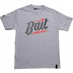 BAIT Superior BAIT Tee (heather grey / black / red)