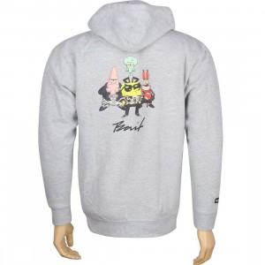 BAIT x SpongeBob Group Zip Hoody (grey heather)