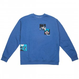 BAIT x Batman Men Fight Scenes Crewneck Sweater (blue / royal)