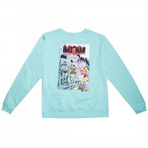 BAIT x Batman Men Ice Crimes Crewneck Sweater (blue / mint)