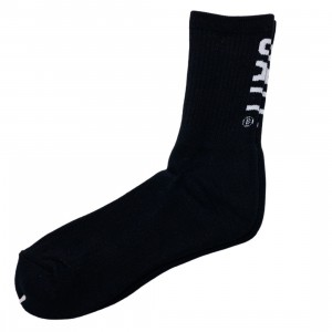 BAIT Men BAIT Logo Crew Socks - Made In Japan (black)