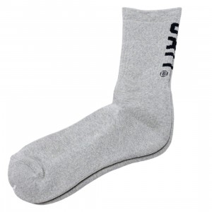 BAIT Men BAIT Logo Crew Socks - Made In Japan (gray)