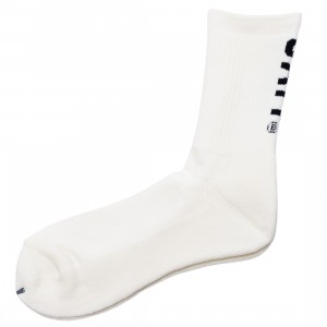 BAIT Men BAIT Logo Crew Socks - Made In Japan (white)