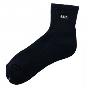 BAIT Men BAIT Bitemark Quarter Socks - Made In Japan (black)