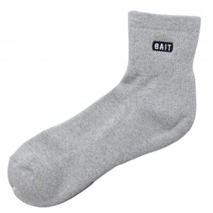 BAIT Men BAIT Bitemark Quarter Socks - Made In Japan (gray)