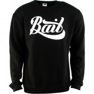 BAIT Script Logo Crewneck (black / white)