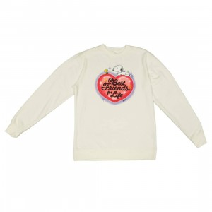 BAIT x Snoopy Men Best Friends Airbrush Crewneck Sweater (white)