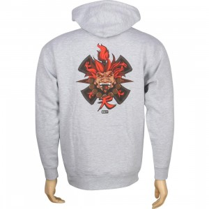BAIT x Street Fighter Akuma Pullover Hoody - Jesse Hernandez (grey heather)