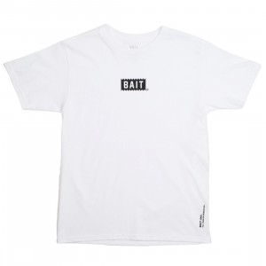 BAIT Men Bite Logo Tee (white)