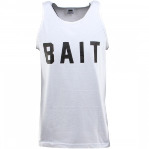 BAIT Logo Tank Top (white / black)