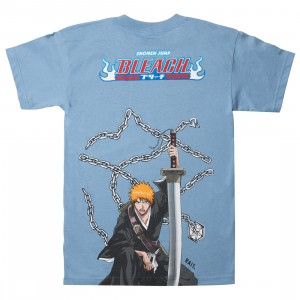 BAIT x Bleach Men Ichigo Kurosaki Chain Tee (blue / carolina blue)