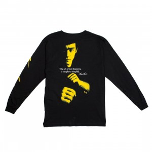 BAIT x Bruce Lee Men Jeet Kune Do Long Sleeve Tee (black)