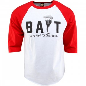 BAIT x Bruce Lee High Kick Raglan Tee (white / red / black)