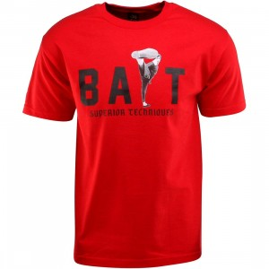 BAIT x Bruce Lee High Kick Tee (red / black)