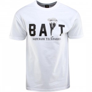 BAIT x Bruce Lee High Kick Tee (white / black) - BAIT SDCC Exclusive