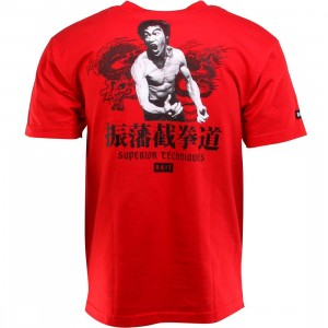 BAIT x Bruce Lee Superior Techniques Tee (red / black) - BAIT SDCC Exclusive