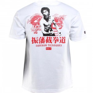 BAIT x Bruce Lee Superior Techniques Tee (white / red)