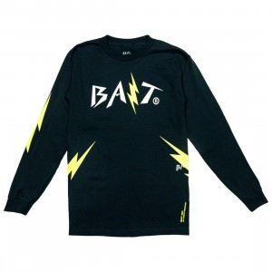 BAIT Men Bolt Long Sleeve Tee (navy / yellow)