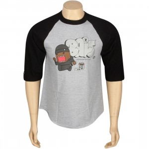 BAIT x Domo Graffiti Raglan Tee (heather / black)