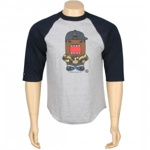BAIT x Domo Rapper Raglan Tee (heather / navy)